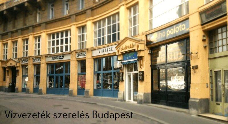 Vízvezeték szerelés Budapest területén