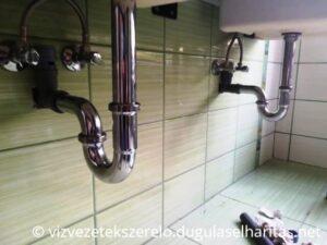 Fürdőszobai mosdó szifon