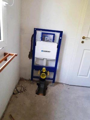 Falba épített Geberit WC. tartály szerelése