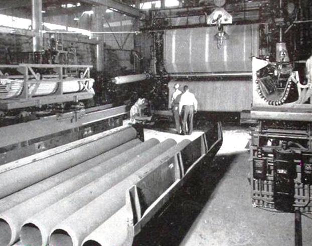 Eternitcső gyártás