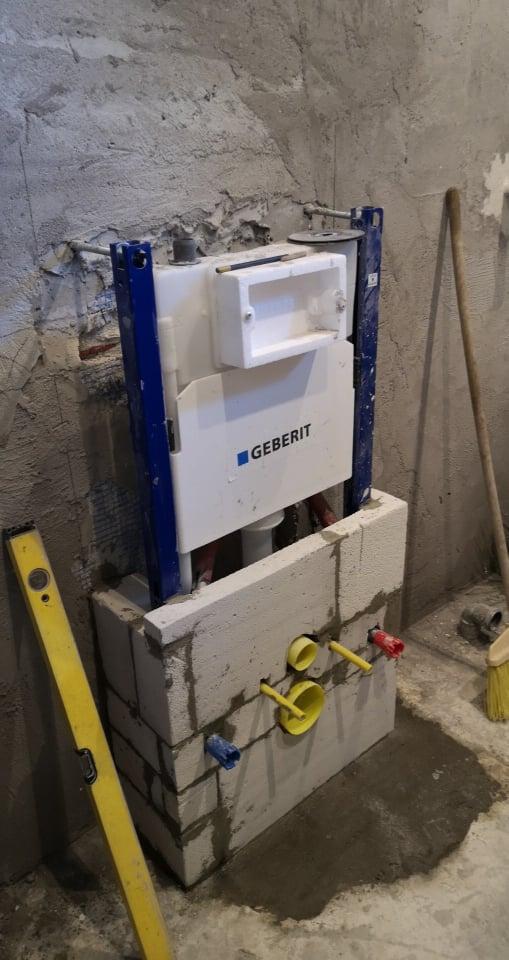Geberit falba épített WC. tartály és a beépítés menete