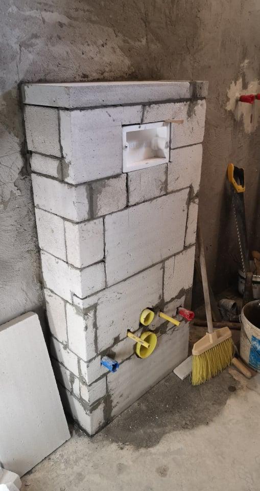 Geberit - beépített WC. tartály és a beépítés menete