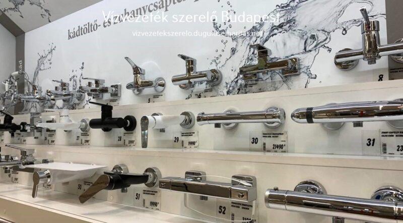 Zuhany csaptelep kínálat az áruházban