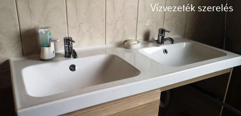 Modern mosdókagyló - dupla