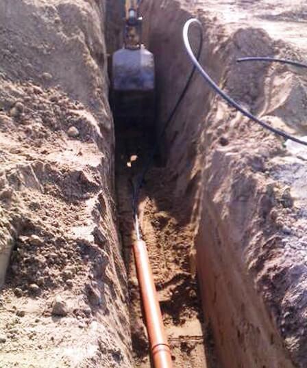 Vízvezeték árok mélysége