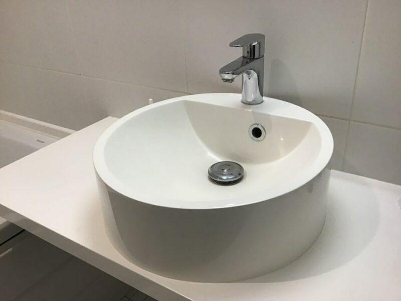 Modern mosdókagyló - kerek