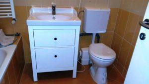 Darálós WC. beépítése