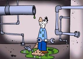 Vízszerelő bajban